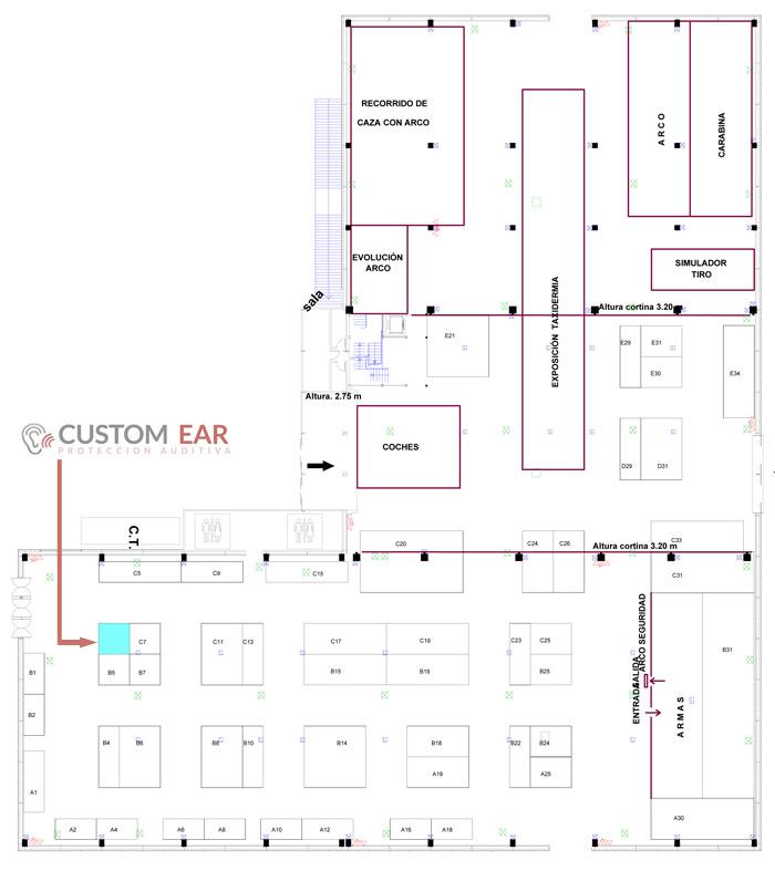Ubicación stand de Custom Ear en FIVAC 2019